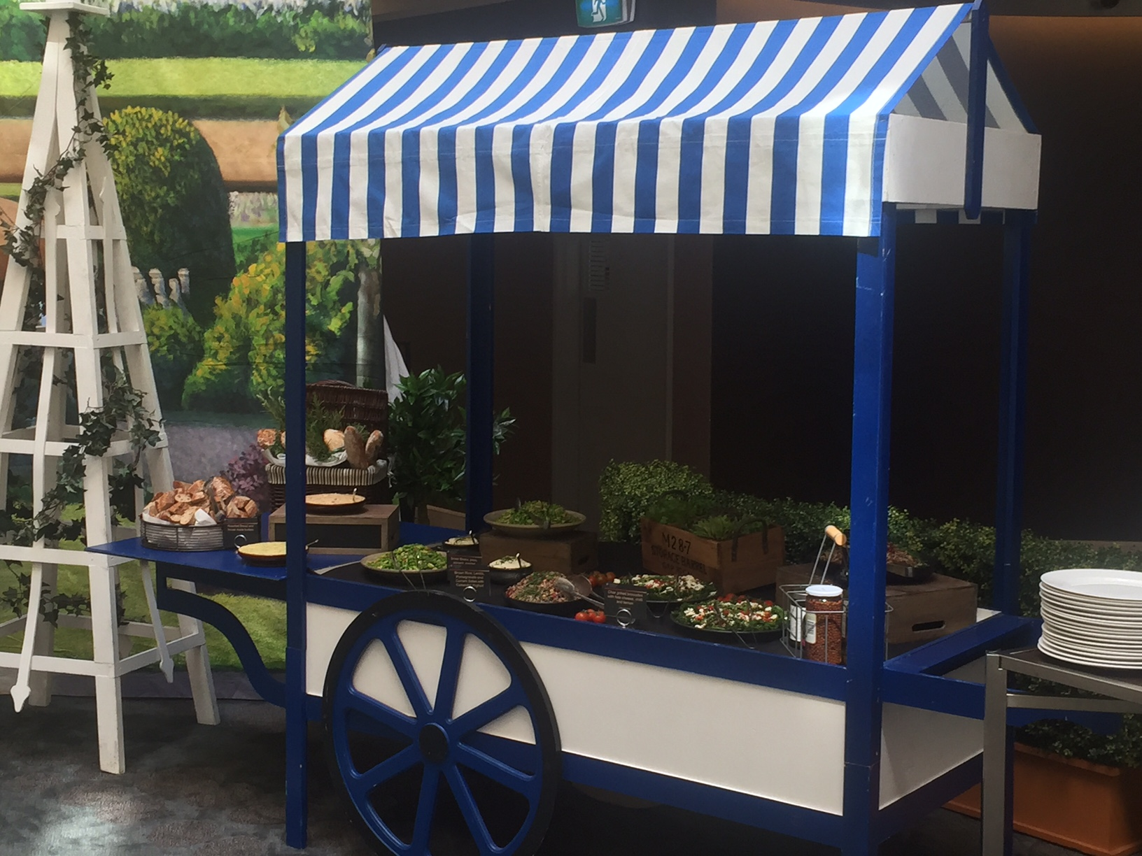 blue Food Cart