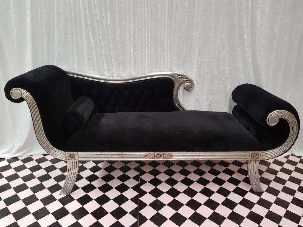 Black Velvet Chaise - Copy